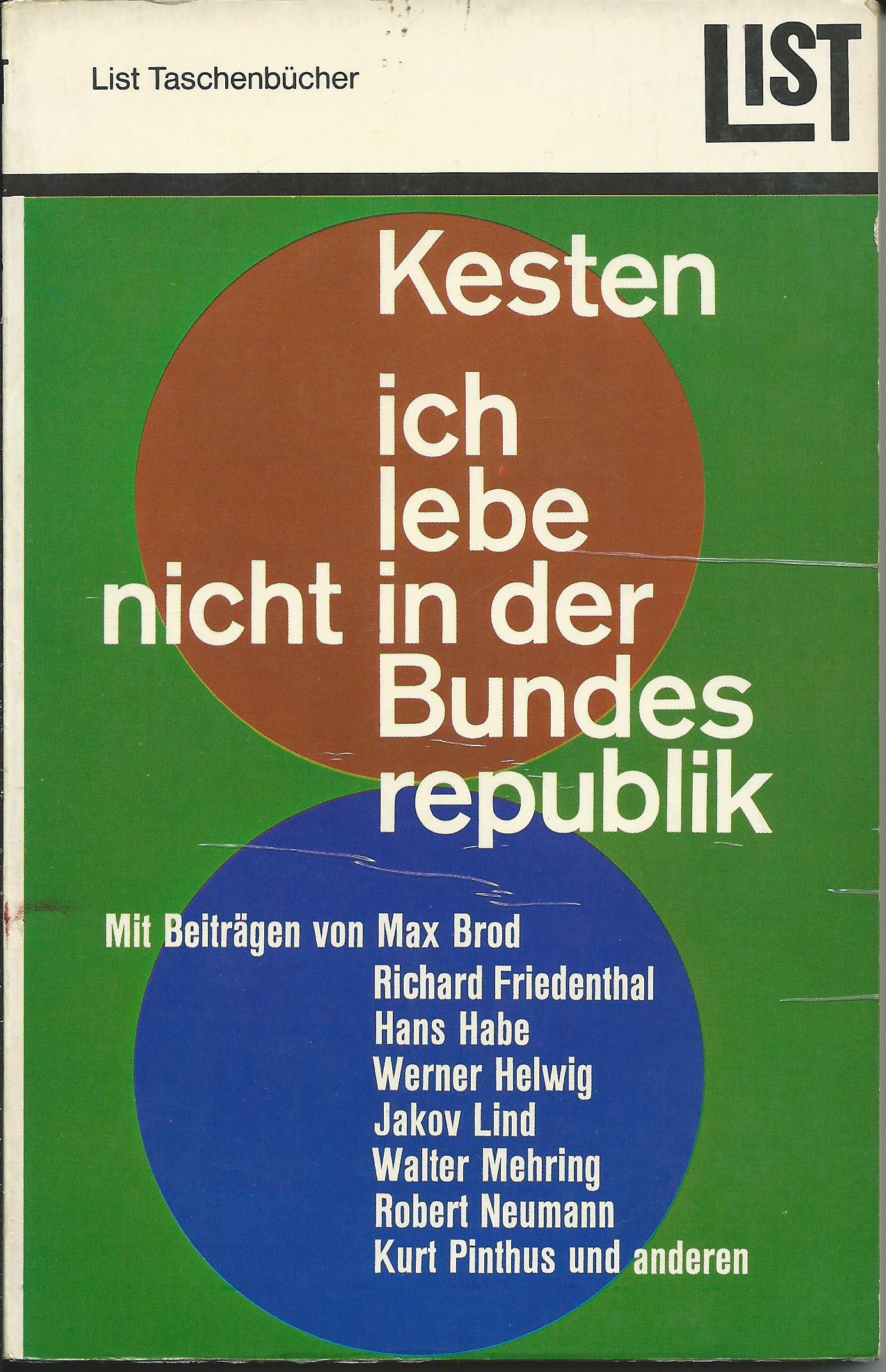 Hermann Kesten (Hg.): Ich lebe nicht in der Bundesrepublik
