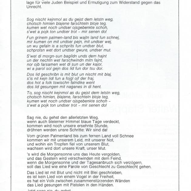 """Programmheft """"De verbrannten Dichter"""" von Walter Stapper, Seite 11"""