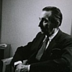 Walter Mehring 1953, fotografiert von Fritz Eschen